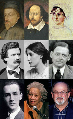 famous writers pictures collage